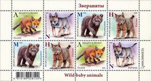 2020 Belarus Fox Wolf Bear Lynx Wild Animals MNH