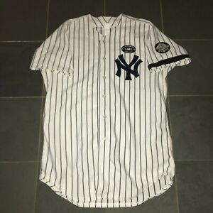 """2010 New York Yankees 45 MILB Authentic Game Worn Issued Baseball Jersey  48 +4"""""""