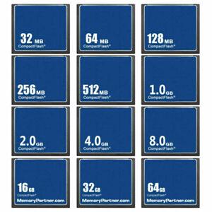 32MB 64MB 128MB 256MB 512MB 1GB 2GB 4GB CF CompactFlash CF Memory Card New