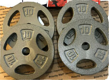 "NEW!!!  40lb Adjustable Cast Iron  1"" Weight Plates"