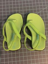 Baby Girl Size 4 Green Sandals