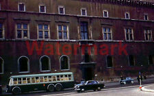 Vtg Street Scene Rome Italy Bus Cars 1954 Red Border Kodak 35mm Slide