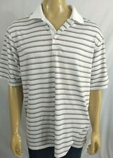 Walter Hagen Hydro Dri Golf Polo Mens Xl Ss White Purple Tan Striped Ss Athletic