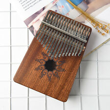 More details for kalimba 17 keys finger thumb piano w/ learning book hammer note stick for adult