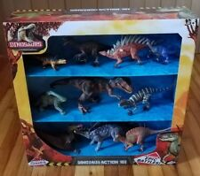 """Kid Galaxy Poseable Dinosaur Action Figures 10 Pack Create Epic Battles! """"New"""""""