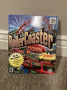 RollerCoaster Tycoon PC Game Big Box CIB w/ Manual