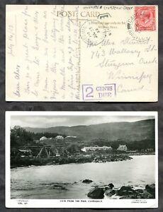 WINNIPEG STURGEON CREEK 1932 CDS on Postage Due Postcard from England   (p01909)
