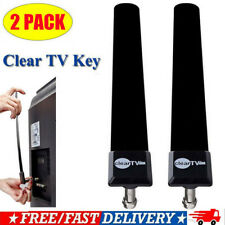 2 Pack Clear Tv Key Hdtv Free Tv Stick Satellite Digital Antenna Ditch Cable Usa