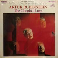 Artur Rubinstein The Chopin I Love RCA Red Seal New Sealed lp Classical Romantic