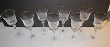 Mikasa Long Stem Crystal Wine Glass Goblet Gold Rim... 8 Available....EC