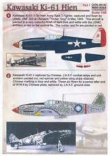 Print Scale Decals 1/48 KAWASAKI Ki-61 HIEN TONY Japanese WWII Fighter Part 1