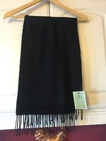 NWT FOWNES Black Knit Super Soft Winter Scarf MSRP $40.00 Free Shipping