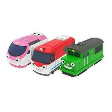 Titipo and Friends Pullback Gear Toy 3 Trains Home Character Kids Hobby