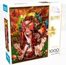 Buffalo Games Jigsaw Puzzle Fantasy Autumn Queen Glitter Edition 1000 Piece New