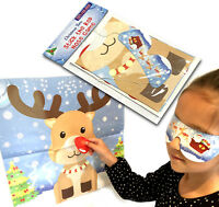 STICK THE RED NOSE ON RUDOLPH GAME KIDS PARTY ACTIVITY CHRISTMAS STOCKING FILLER
