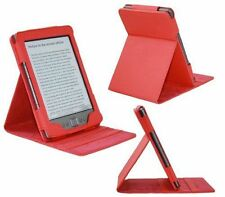 Amazon Kindle 4 Luxury LUXFOLIO PU Leather Dual Flip Stand Case Cover - Red