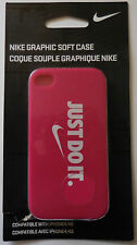Nike Graphic Soft Case Compatible W/ iPhone 4/4s Color Photo Deep Pink/White New