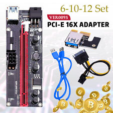 VER009S PCI-E Riser Adapter Card PCIe 1x bis 16x USB 3.0 Data Cable Mining Rig