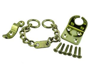 *Door Chain Security Lock Wing + Screws Brass Plated - Pkg of 2