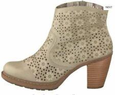 Rieker Beige laser Cut Printed Ankle Boots UK 6 EU 39 LN50 35