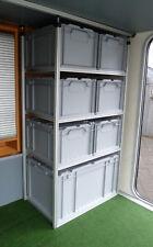 Alu Regal für Wohnmobil Heckgarage Garage incl. Boxen; Systemregal; Regalsystem