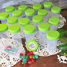 20 Fun Party Favor JARS Lime Lids Plastic Container Pill Bottle 3814 DecoJars