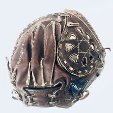 1960s Vintage Spalding Baseball 42 7777 Catchers Glove Youth Leather Nylon Mitt