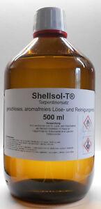 500 ML Shellsol-T, Turpentine, Odor, Solvent, Brush Cleaner