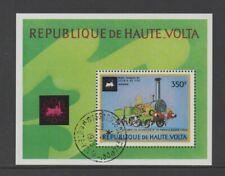UPPER VOLTA 1973 HISTORIC RAILWAY LOCOMOTIVES M/SHEET *VFU/CTO*