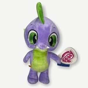 "My Little Pony Build A Bear BABW Spike Purple Green Dragon 12"" Plush Toy 2013"