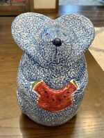 Mouse Eating Watermelon Cookie Jar Los Angeles Pottery