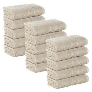 15x Sand FROTTEE Badetuch 100 x 150 cm Badetücher 100% Baumwolle 500g/m² SET