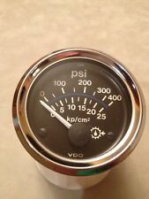VDO 400 psi Transmission Oil Pressure Gauge~Diesel~Boat~Motorhome~Truck~12V