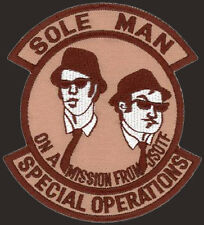 USAF SOS SPECIAL OPERATIONS - SOLE MAN - ON A MISSION ORIGINAL SPEC OP'S PATCH