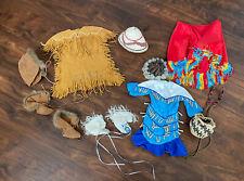American Girl Doll Kaya Lot Meet Dress Jingle Dress Basket Hat Fire Shawl + More