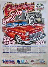 Pomona Swap Meet Classic Car Show Art Poster Calendar 2013 Hot Rods CA USA NOS