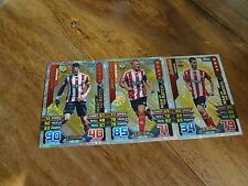 3 X  SOUTHAMPTON  2015/16 MATCH ATTAX MAN OF THE MATCH CARDS FULL SET