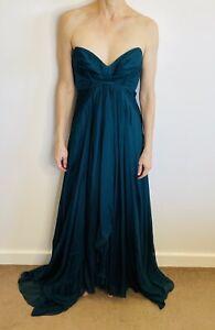 Aurelio Costarella Australia Sz 1 (8-10) Teal Silk Gown, Dress, Formal Designer