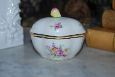 Wonderful Richard Ginori Capodimonte Fruit And Flower Decorated Porcelain Box #3