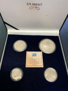 Cased scarce 1991 South African Mint 3 Different 8-coin Proof Sets 1990 1992