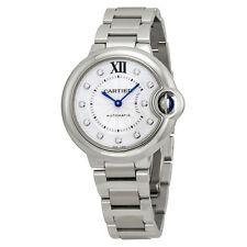 Cartier Ballon Bleu Automatic Diamond Dial Ladies Watch WE902074