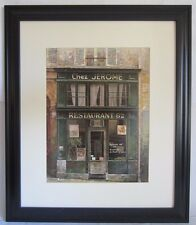 """Chiu Tak Hak """"Chez Jerome"""" 27"""" x 23½"""" Matted with Frame Good++ Condition!"""