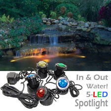 5-LED Super Bright Outdoor Underwater Pond Fountain Spot Light Kits with sensor