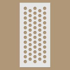 Polka Dots / Large Dotted Reusable Plastic Stencil
