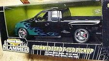 2002 Ford F-150 Slammed BLACK 1:18 Ertl American Muscle 33606