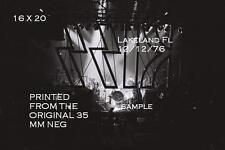 Kiss 1976 Behind The Logo 16 X 20 Photo Lakeland,FL Shock Me