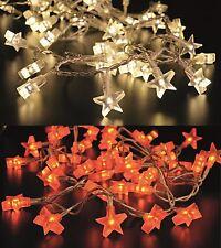 """Stern Lichterkette """"Star"""" 40 LED - 200/300 cm Sternenlichterkette Weihnachten"""