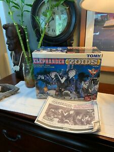 BOX and MANUAL ONLY Zoids RZ-038 ELEPHANDER Tomy 1999 Rare VINTAGE