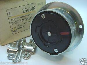 Arrow-Hart 26414A Power-Lock Flanged Outlet 3P/4W 600 VAC 60A b92