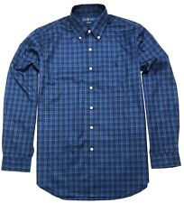 Polo Ralph Lauren Mens Shirt Long Sleeve Blue Check L M SP 100% cotton stretch